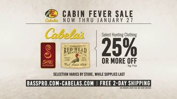 Bass Pro Shops Cabin Fever Sale TV Spot, 'Long Sleve Tees and Hunting Clothing' - Thumbnail 8