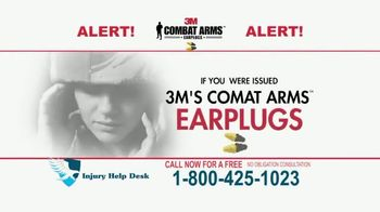 Injury Help Desk TV Spot, 'Defective Military Earplugs'