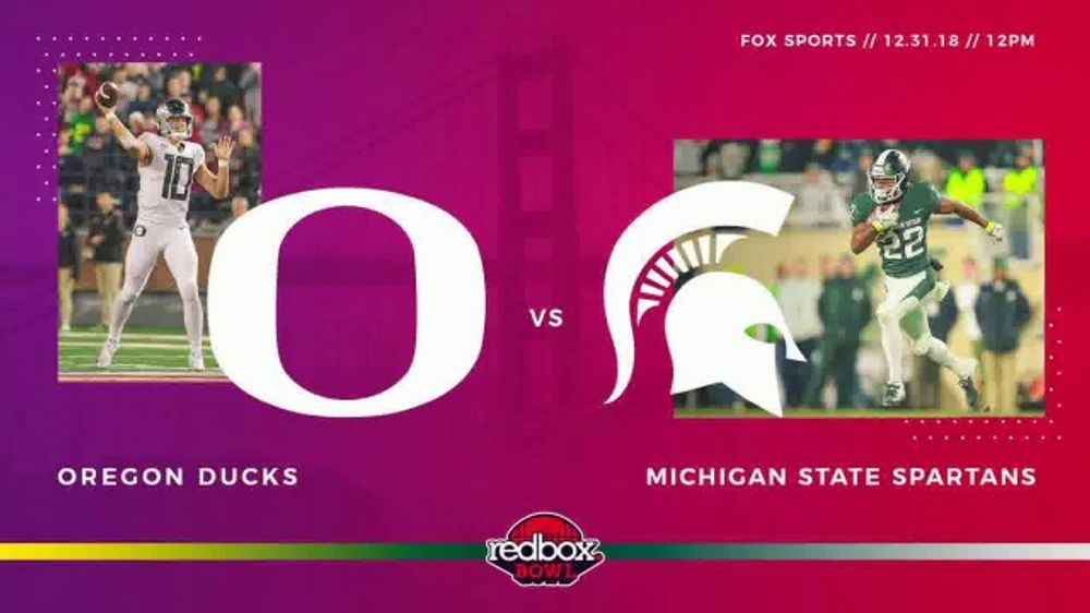 Redbox Bowl TV Commercial, '2018: Oregon vs. Michigan State'