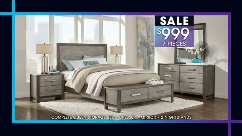 Rooms to Go January Clearance Sale TV Commercial, \'7-Piece Bedroom Set\' -  Video