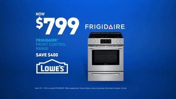 Lowe's TV Spot, 'Fridge Moment: Frigidaire Range'