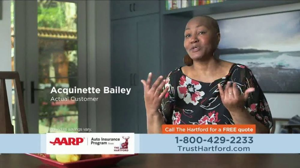 AARP Hartford Auto Insurance Program TV Commercial ...