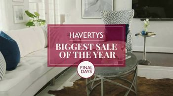 Havertys Biggest Sale of the Year TV Spot, 'Final Days to Save' - Thumbnail 4