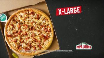 Papa John's X-Large 2-Topping Pizza TV Spot, 'You're Gonna Love This' - Thumbnail 4