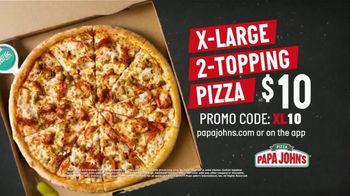 Papa John's X-Large 2-Topping Pizza TV Spot, 'You're Gonna Love This' - Thumbnail 6