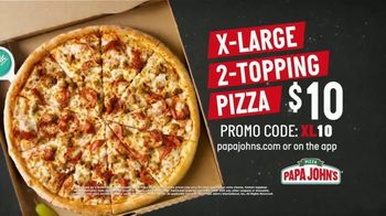 Papa John's X-Large 2-Topping Pizza TV Spot, 'You're Gonna Love This' - Thumbnail 8