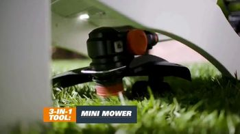 Worx GT Revolution TV Spot, 'Cordless Grass Trimmer' - Thumbnail 4