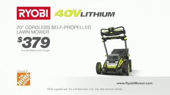 Ryobi 40V Lithium Cordless Mower TV Spot, 'Unrelenting Torque' - Thumbnail 9