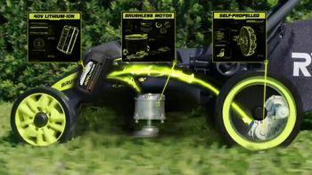 Ryobi 40V Lithium Cordless Mower TV Spot, 'Unrelenting Torque' - Thumbnail 5