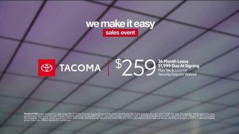 Toyota We Make It Easy Sales Event TV Spot, 'Tacoma' [T2] - Thumbnail 7