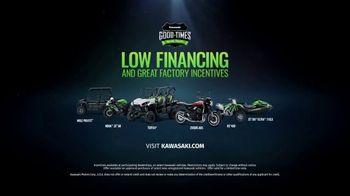 Kawasaki Good Times Sales Event TV Spot, 'Save Big' Featuring Steve Austin, Eli Tomac, Jeremy McGrath - Thumbnail 9