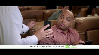 DraftKings Sportsbook TV Spot, 'Something's Wrong: Cash' Ft Charles Barkley - Thumbnail 3