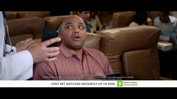 DraftKings Sportsbook TV Spot, 'Something's Wrong: Cash' Ft Charles Barkley - Thumbnail 6