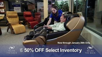 Relax the Back Clearance Sale TV Spot, 'Relieve Back and Muscle Pain'