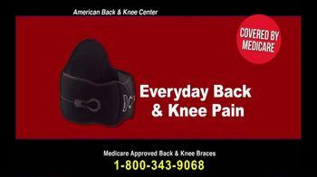 Back and Knee Brace Center TV Spot, 'Everyday Back Pain'