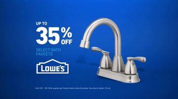 Lowe's TV Spot, 'Half Bath: Select Bath Faucets' - Thumbnail 7
