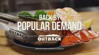 Outback Steakhouse Steak & Lobster TV Spot, \'Steak & Lobster is Back\'