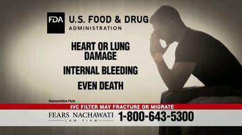 Fears Nachawati TV Spot, 'IVC Filter Warning' - Thumbnail 4