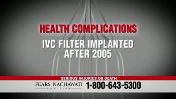 Fears Nachawati TV Spot, 'IVC Filter Warning' - Thumbnail 5