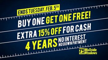 Wallside Windows Super Sale LXXV TV Spot, 'It's Time for Kickoff: Buy One Get One' - Thumbnail 10