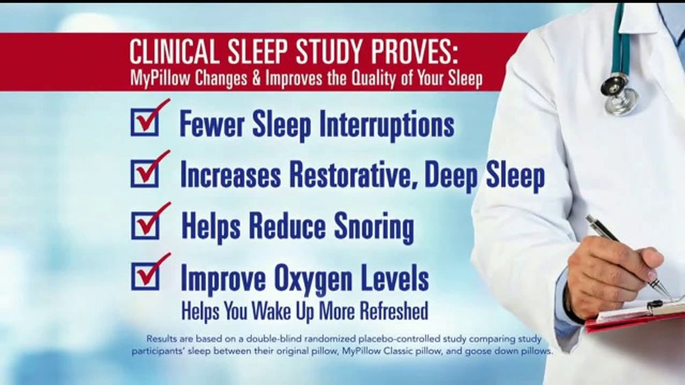 My Pillow Premium TV Commercial, 'Clinical Sleep Study: BOGO'