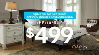 Ashley HomeStore Presidents Day Mattress Sale TV Spot, 'Colchón y base ajustable' [Spanish] - Thumbnail 4