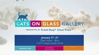 Fresh Step Clean Paws TV Spot, '2019 Cats on Glass Gallery' - Thumbnail 7