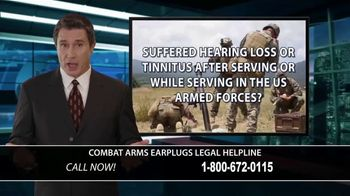 Combat Arms Earplugs Legal Helpline TV Spot, 'Tinnitus and Hearing Loss' - Thumbnail 2
