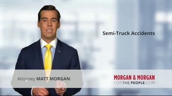 Morgan and Morgan Law Firm TV Spot, 'Accident With a Semi' - Thumbnail 1