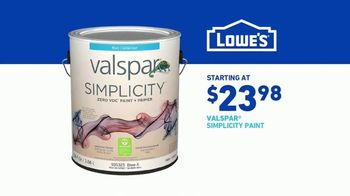 Lowe's TV Spot, 'Paint It Right: Valspar Simplicity Paint' - Thumbnail 8