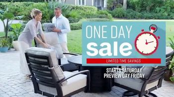 Ashley HomeStore One Day Sale TV Spot, 'Outdoor Tables' Song by Midnight Riot - Thumbnail 2