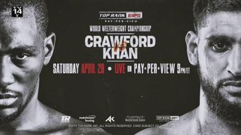 Comcast/XFINITY TV Spot, 'Top Rank Boxing: Crawford vs. Khan' Song by Lil Wayne - 9 commercial airings