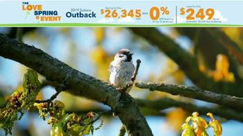 Subaru Love Spring Event TV Spot, 'Great Deal: 2019 Outback' [T2] - Thumbnail 2