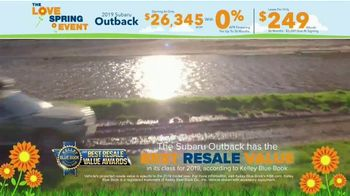 Subaru Love Spring Event TV Spot, 'Great Deal: 2019 Outback' [T2] - Thumbnail 4