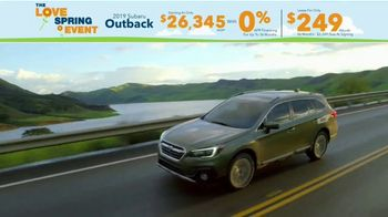 Subaru Love Spring Event TV Spot, 'Great Deal: 2019 Outback' [T2] - Thumbnail 7