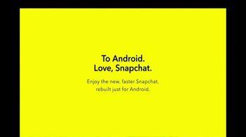 Snapchat TV Spot, 'To Android. Love, Snapchat.' - Thumbnail 9