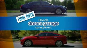 Honda Dream Garage Spring Event TV Spot, 'Final Days: Sedans' [T2] - Thumbnail 2