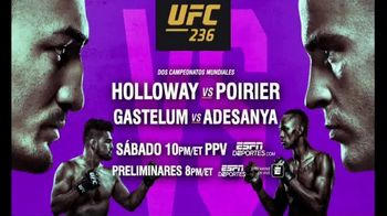 UFC 236 TV Spot, 'Holloway vs. Poirier' [Spanish] - 176 commercial airings