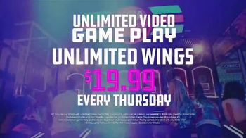 Dave and Buster\'s TV Spot, \'Unlimited Games and Wings Thursdays\'