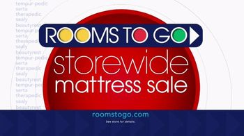 Rooms to Go Storewide Mattress Sale TV Spot, 'Complete Queen Upholstered Bed' - Thumbnail 8