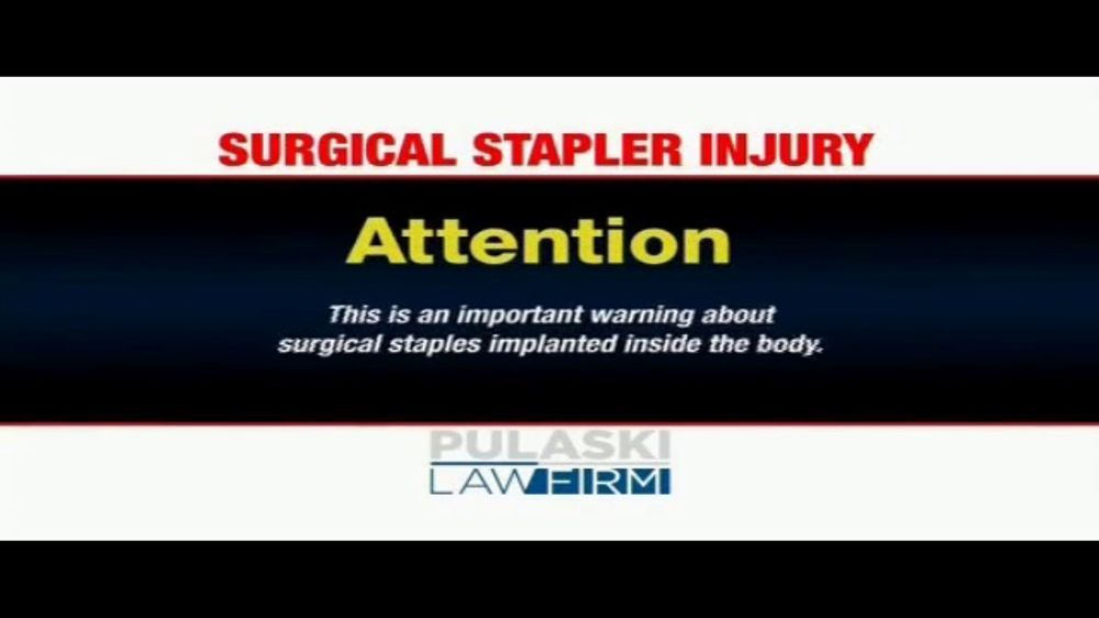 Pulaski Law Firm >> Pulaski Law Firm Tv Commercial Surgical Stapler Injury Video