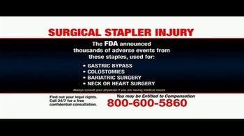 Pulaski Law Firm TV Spot, 'Surgical Stapler Injury' - Thumbnail 5