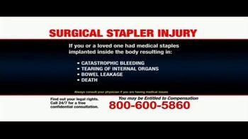 Pulaski Law Firm TV Spot, 'Surgical Stapler Injury' - Thumbnail 9