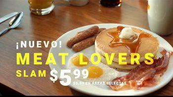 Denny's Meat Lovers Slam TV Spot, 'Compartir te llena' [Spanish] - Thumbnail 8