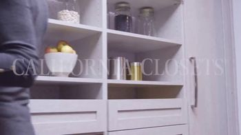 California Closets Lighting & Accessories Sales Event TV Spot, 'Custom Storage Solution' - Thumbnail 1