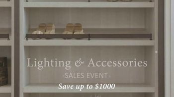 California Closets Lighting & Accessories Sales Event TV Spot, 'Custom Storage Solution' - Thumbnail 3