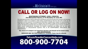 The Driscoll Firm TV Spot, 'Talcum Powder and Ovarian Cancer' - Thumbnail 8