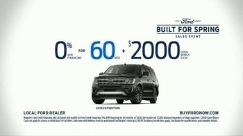 Ford Built for Spring Sales Event TV Spot, 'Get a Ford: Sports Cars, Trucks and SUVs' [T2] - Thumbnail 9