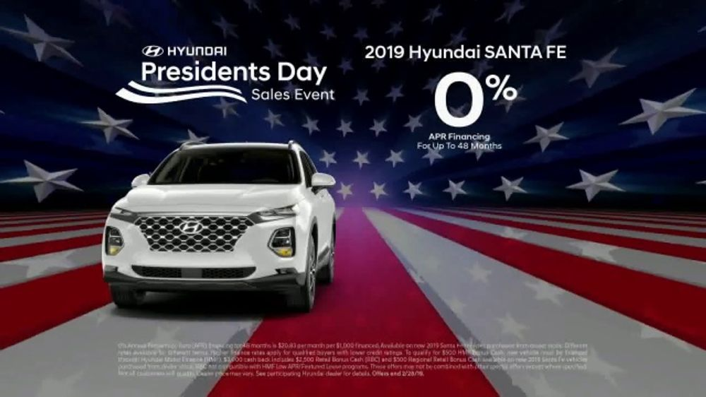 Hyundai Presidents Day Sales Event Tv Commercial Presidential Savings T2 Ispot Tv