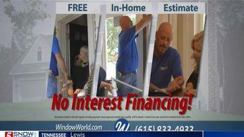 Window World TV Spot, 'No Interest Financing'